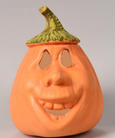 Dynia z przykrywką - figurka ceramiczna Halloween