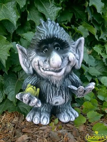 Troll stojcy figurka ceramiczna