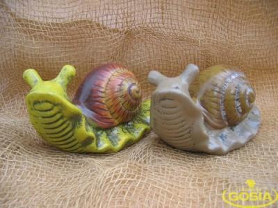Ślimak mały figurka ceramiczna ogrodowa