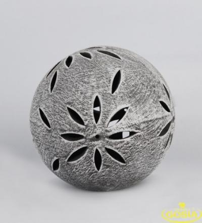 Lampion kula ceramiczna figura ogrodowa