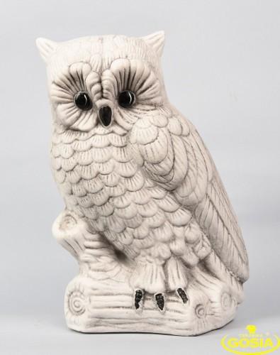 Sowa figurka ceramiczna ogrodowa