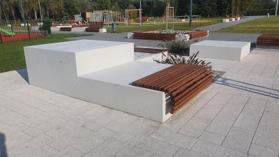 Ławka z betonu architektonicznego 160 x 160 x 80cm