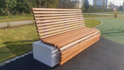 Ławka z betonu architektonicznego 150 x 50 x 40cm