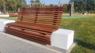 Ławka z betonu architektonicznego 250 x 50 x 33cm