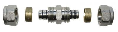 Dwuzłączka pex/pex 16*16*2 wkładka aluminiowa