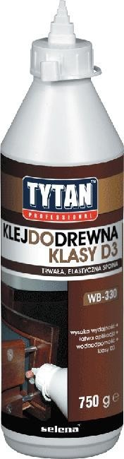Klej do drewna tytan professional d3 750g