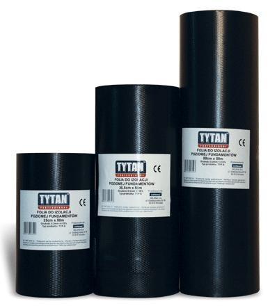 Folia do izolacji poziomej fundamentów 36,5cm*50m