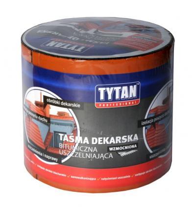 Taśma dekarska tytan wzmacniana 15cm*10mb brązowa