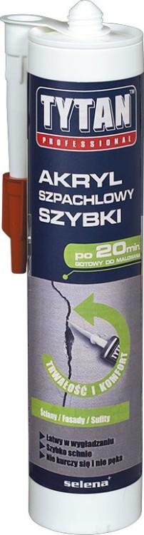 Akryl szpachlowy szybki lekki tytan professional 280ml biały