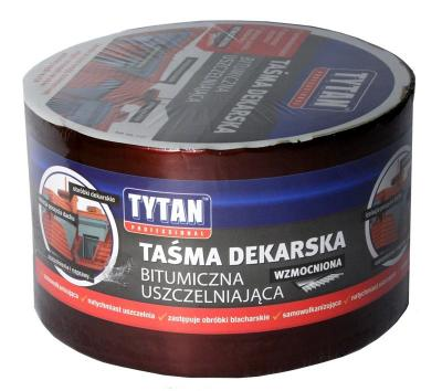 Taśma dekarska tytan wzmacniana 15cm*10mb czerwony/ceglasty