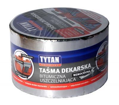 Taśma dekarska tytan wzmacniana 15cm*10mb srebrna/aluminiowa