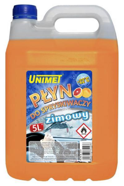Płyn do spryskiwaczy zimowy 5l do-22 na etanolu pomarańczowy