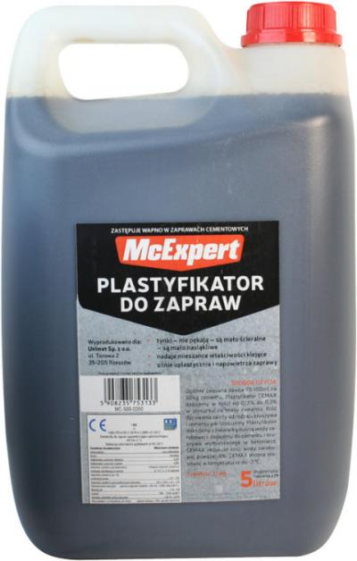Plastyfikator do zapraw zastępujący wapno 5l