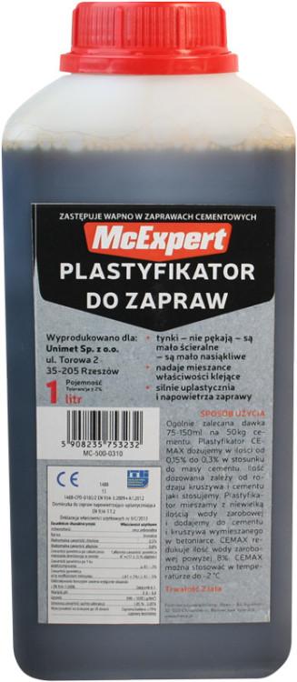 Plastyfikator do zapraw zastępujący wapno 1l