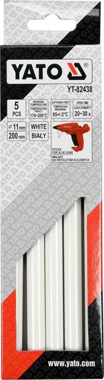 Wkłady klejowe 11,2x200mm 5szt białe