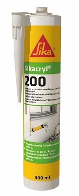 Akryl wysokiej klasy sikacryl-200 biały 300ml