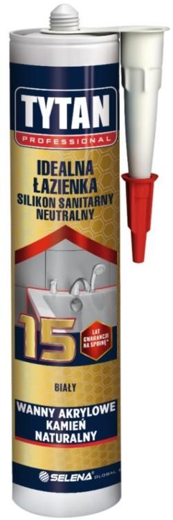 Silikon tytan sanitarny idealna łazienka 280ml biały