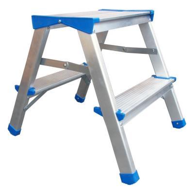Drabina, stołek aluminiowy rozkładany 44cm 1 stopień+podest