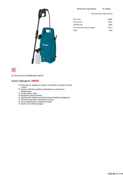 Myjka wysokociśnieniowa 100bar 1300w