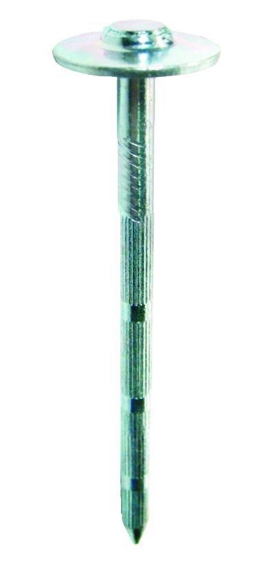 Gwóźdź utwardzony 3,5 x 25 z podkładem 15mm walcowany K2