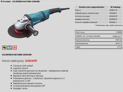 Szlifierka kątowa 230mm 2600w łagodny rozruch