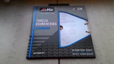 Piła diamentowa STANDARD TURBO 230X22,2X2,8mm K2