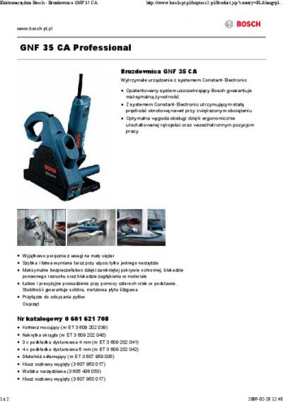 Bruzdownica gnf35ca 1400w 35mm