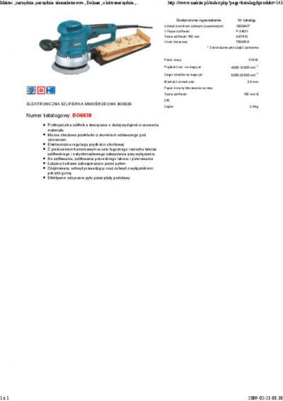 Szlifierka mimośrodowa 310w 150mm