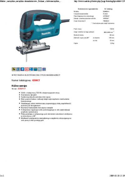 Wyrzynarka z układem elektronicznym i led 720w