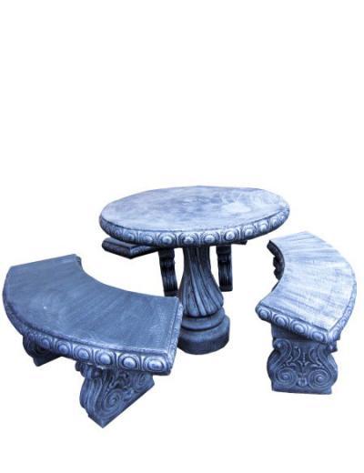 Stolik i ławki betonowe