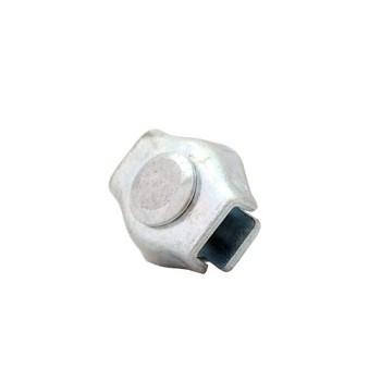 Zacisk linowy siodełkowy ocynkowany pojedyńczy 6mm