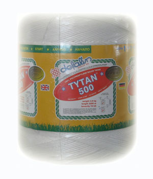 Sznurek rolniczy 500m/kg polipropylenowy biały tytan