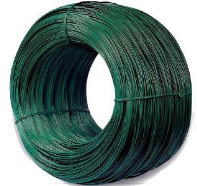 Drut ocynkowany pokryty pcv. 2.4*3.5mm zielony