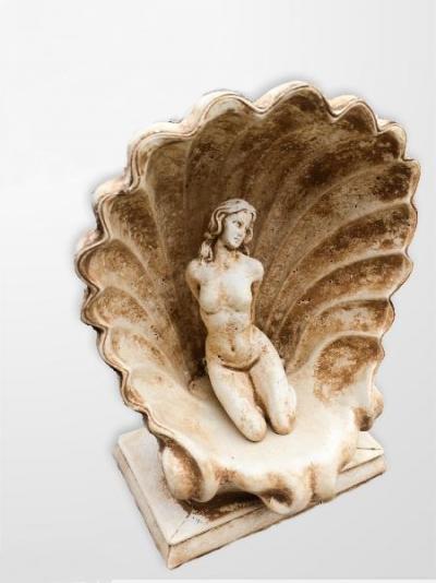 Figura betonowa dziewczyna w muszli 41cm/25x17cm/14kg