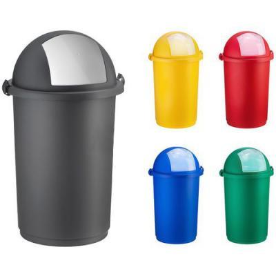 Pojemnik na odpady push niebieski
