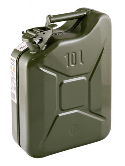 Kanister stalowy zielony ral 6003 10l