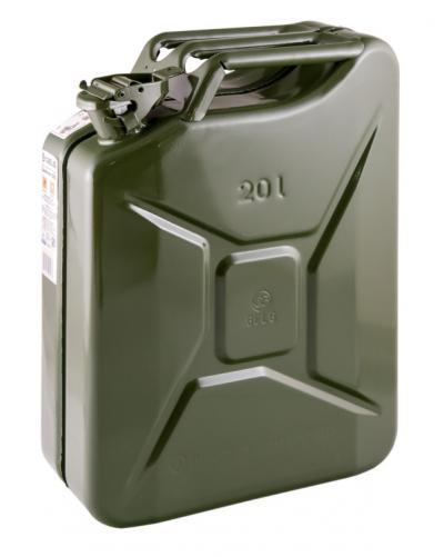 Kanister stalowy zielony ral 6003 20l