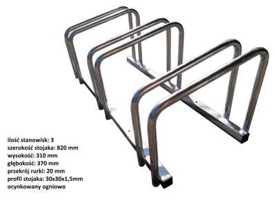 Stojak na rowery 3 miejsca, ocynk ogniowy