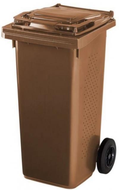 Pojemnik na odpady bio 120l brązowy