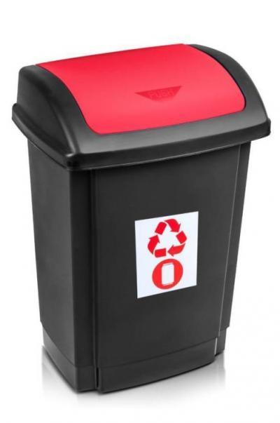 Pojemnik na odpady swing 25l pokrywa czerwona