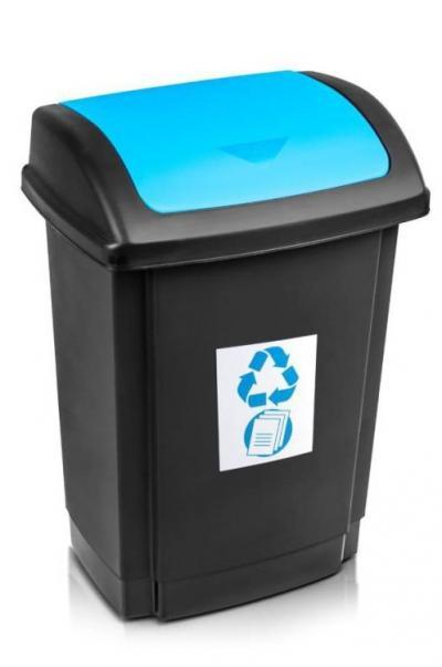 Pojemnik na odpady swing 25l pokrywa niebieska