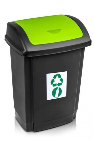 Pojemnik na odpady swing 25l pokrywa zielona