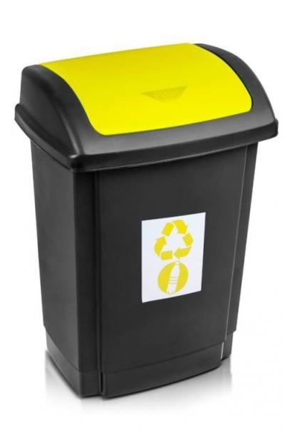 Pojemnik na odpady swing 25l pokrywa żółta