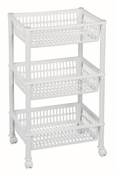 Regał, stojak trolley jumbo eco, biały