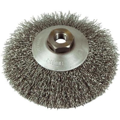 Szczotka tarczowo-kątowa drut stalowy m-14, fi100mm