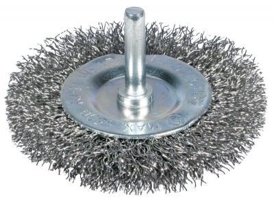 Szczotka tarczowa z trzpieniem 100mm zn
