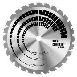 Piła tarczowa t construct wood 400*3,5*30/z28