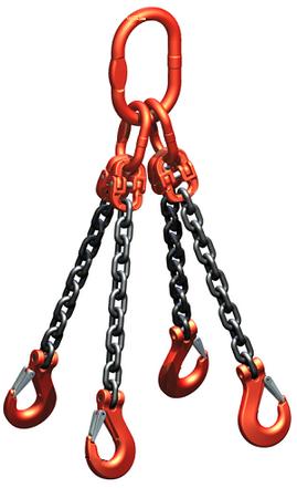 Zawiesie łańcuchowe haki 4c 6,7t 2m kl8