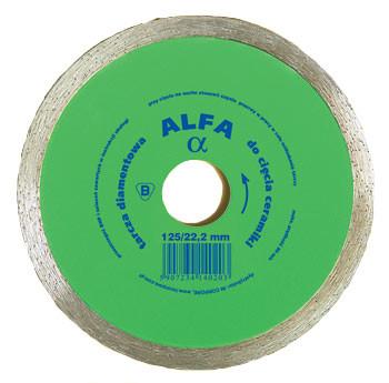 Tarcza diamentowa gładka do glazury alfa 125mm
