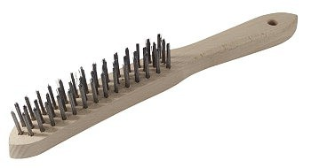 Szczotka druciana a120 drut stalowy 3-rzędowa